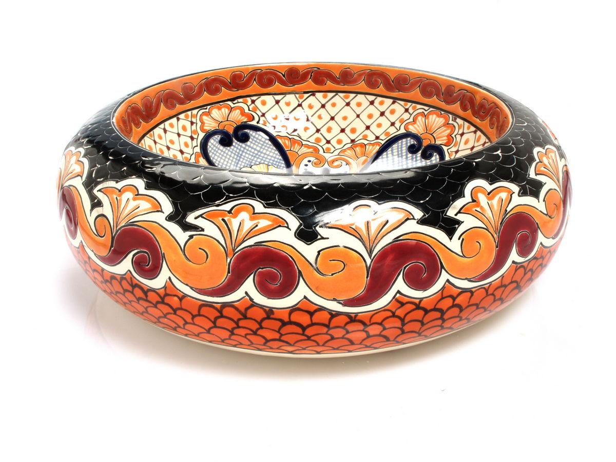 mexikanische waschbecken und fliesen hendbemalte keramik waschbecken part 14. Black Bedroom Furniture Sets. Home Design Ideas