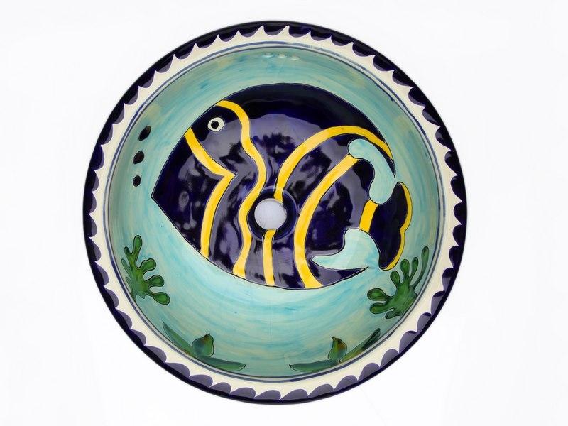 Waschbecken Porzellan Bemalt
