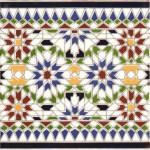 Bemalte marokkanische Fliesen