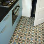 Zementfliesen in der Küche
