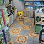 Bodenfliesen im Geschäft