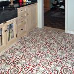 Fliesen aus Zement in der Küche