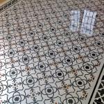 Fußboden aus Zement
