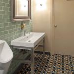 Luxus Badezimmer - Zementfliesen