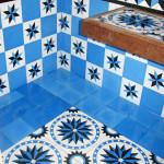 Blaue Fliesen aus Spanien