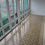 Bodenfliesen aus Zement - Terasse