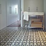 Designer Bodenfliesen im Badezimmer