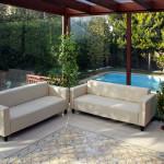 Exklusives Haus - Terrasse mit Zementfliesen