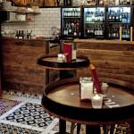 Cementfliesen im exklusiven Restaurant
