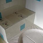 Zementfliesen im Dusche