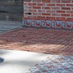 Holz, Ziegel und Zementfliesen - Terrasse