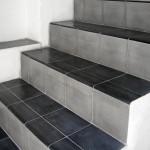 Zementfliesen auf Treppen