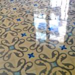 Bodenfliesen aus Zement - Fußboden