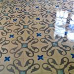 Bodenfliesen aus Zement