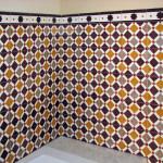 Badezimmer - Wandfliesen aus Zement