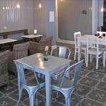 Zementfliesen in der Café