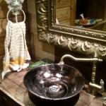 Retro Waschbecken - Handbemalte Antikes Aufsatz Waschbecken