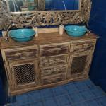 Design Waschbecken Badezimmer - Bemalte Originelle Aufsatz Waschbecken