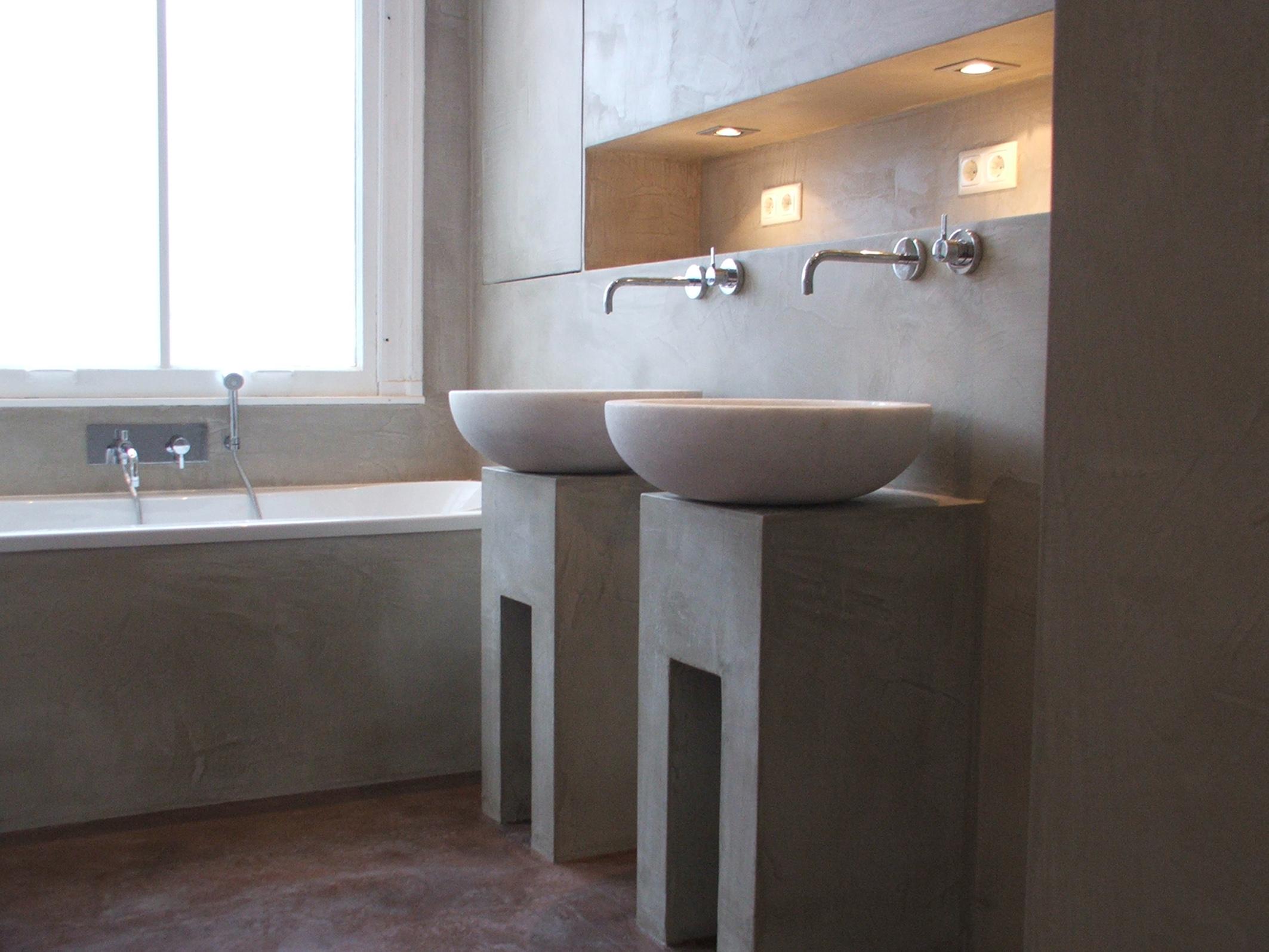 good betonplatte badezimmer #1: Waschbecken Aus Beton Badezimmer