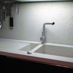 Waschbecken aus Beton Küche