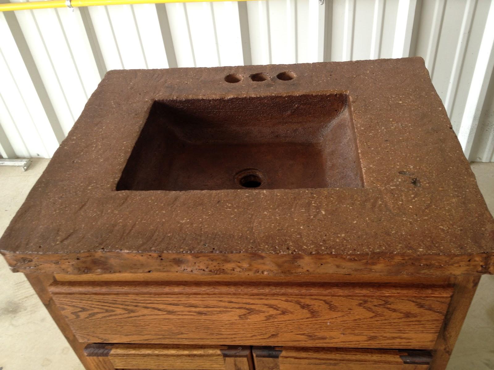 Waschbecken aus beton exklusiv - Garten waschbecken selber bauen ...