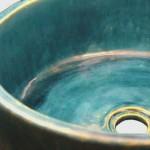 Interessante Waschbecken in Blau