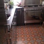 Küche Zementfliesen