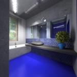 Blaue Badezimmer Mosaik