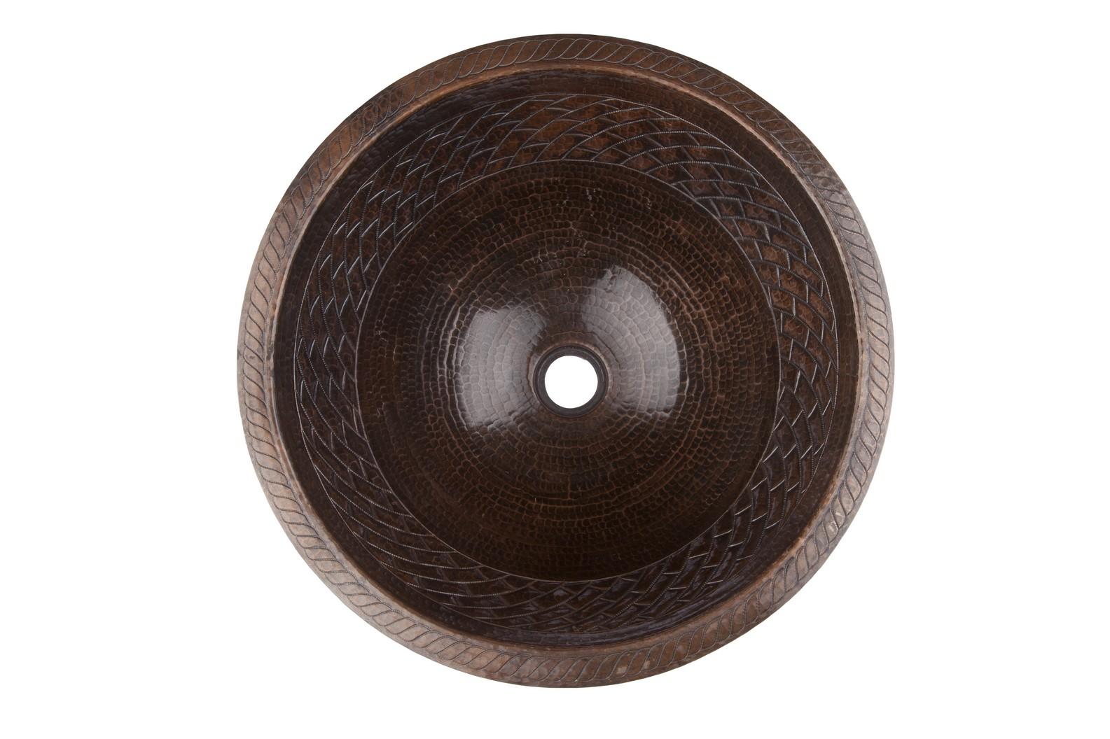 Handgemachte Waschbecken aus Kupfer