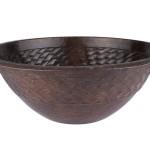 Runde Waschbecken aus Kupfer