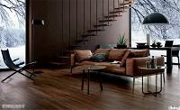 Wohnzimmer mit holzoptik FLiesen